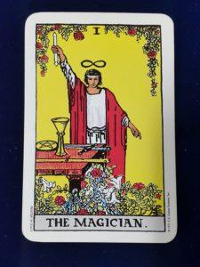 Tarotová karta Mág - duchovní učitel