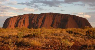 Australská hora Uluru