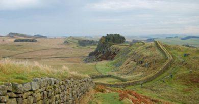 Hadriánův val - severní Anglie