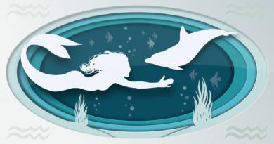Mořská panna, tajemná bytost s lidskou tváří